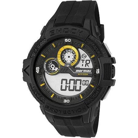 c2ae1eac6e5fa Relógio Mormaii Masculino Adulto de Pulso Digital com Detalhes em Amarelo