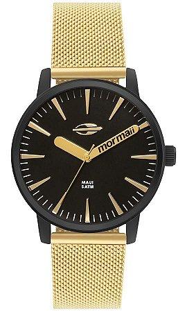 b0272204a26d5 Relógio Feminino Mormaii Preto e Dourado - Pollock Relojoaria e Loja ...