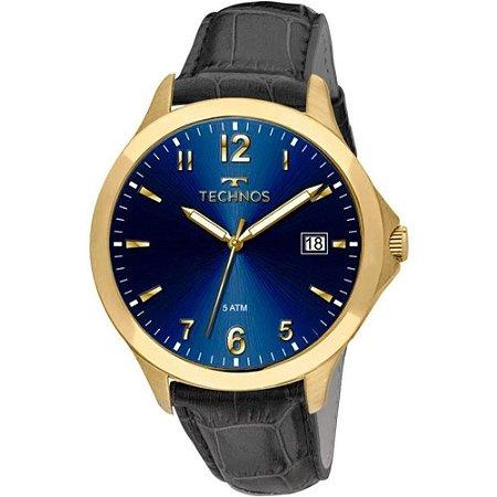 a8630083a7b Relógio Technos Masculino Adulto Analógico de Pulso com Caixa em Aço na Cor  Dourada e Pulseira