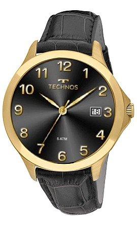 21ebaaf999a Relógio Technos Masculino Analógico Adulto de Pulso com Caixa em Aço na Cor  Dourada e Pulseira