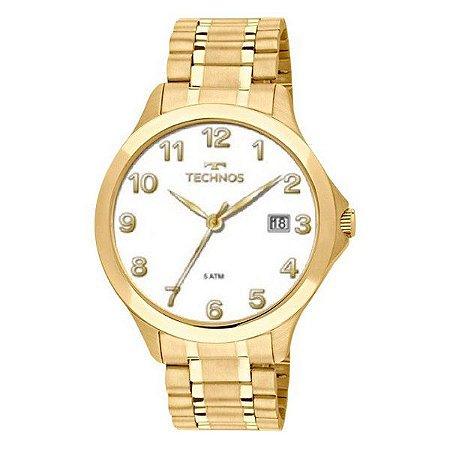 1376a5243fa6b Relógio Technos Masculino Analógico Adulto de Pulso com Caixa e Pulseira em  Aço na Cor Dourada
