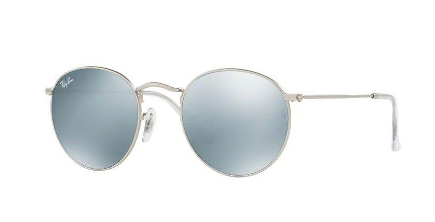 Óculos de Sol Ray-ban Redondo - Round Metal Flash Lenses - Armação Cor Prata b82835637d