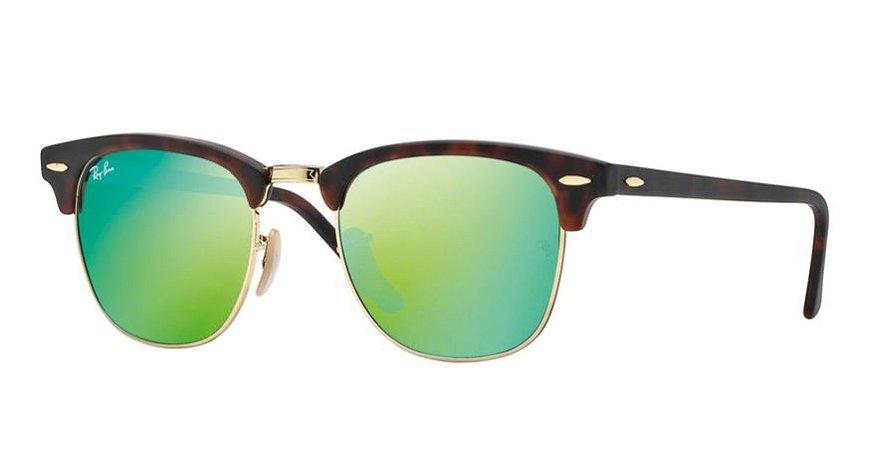 Ray-ban Clubmaster Tartaruga - Turtle - Flash Lenses - Lentes Espelhadas  Verde - RB3016114519 39edef6907