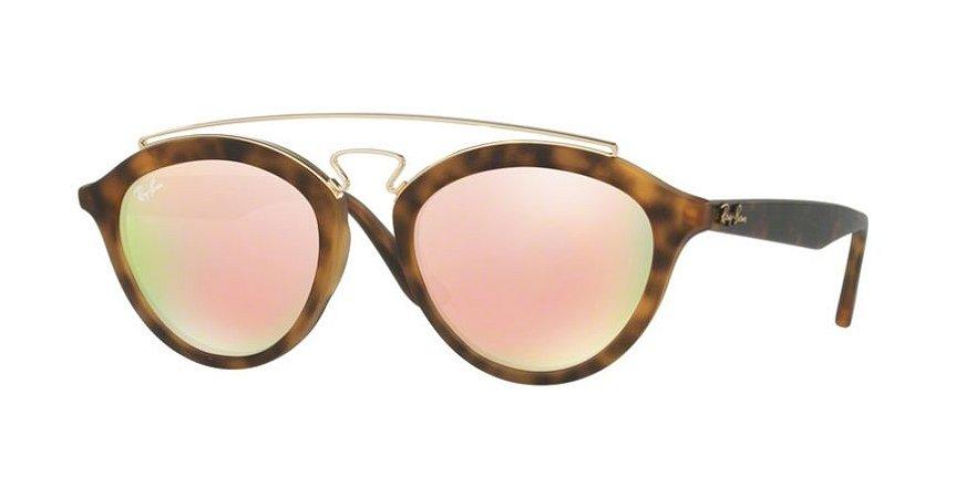 0c6d985104bf9 Óculos de Sol Ray-ban Gatsby II Tartaruga - Turtle de Lentes Rosa-cobre