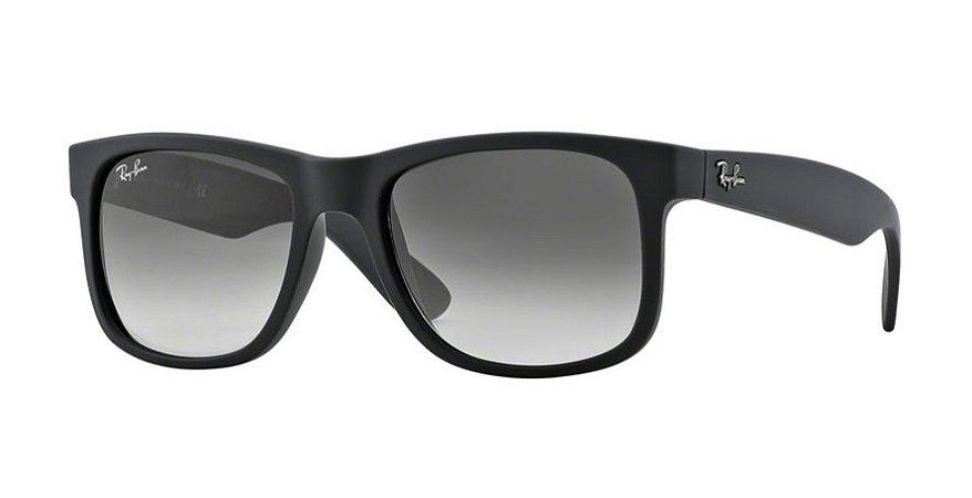 Óculos de Sol Ray-ban Justin Clássico Quadrado de Lentes Cinza Degradê -  Gradiente - aba4bb685f