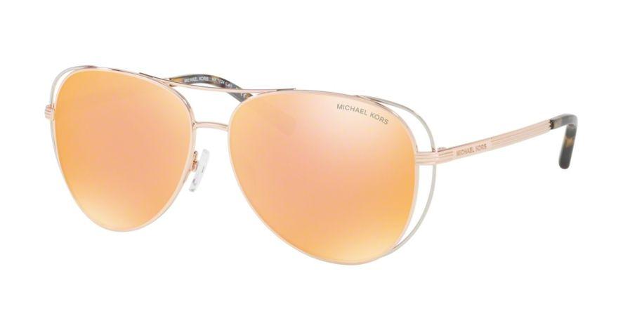 63f737389cb2d Óculos de Sol Michael Kors Rose Gold Estilo Aviador - Aviator Rose Gold -  Lentes Espelhadas