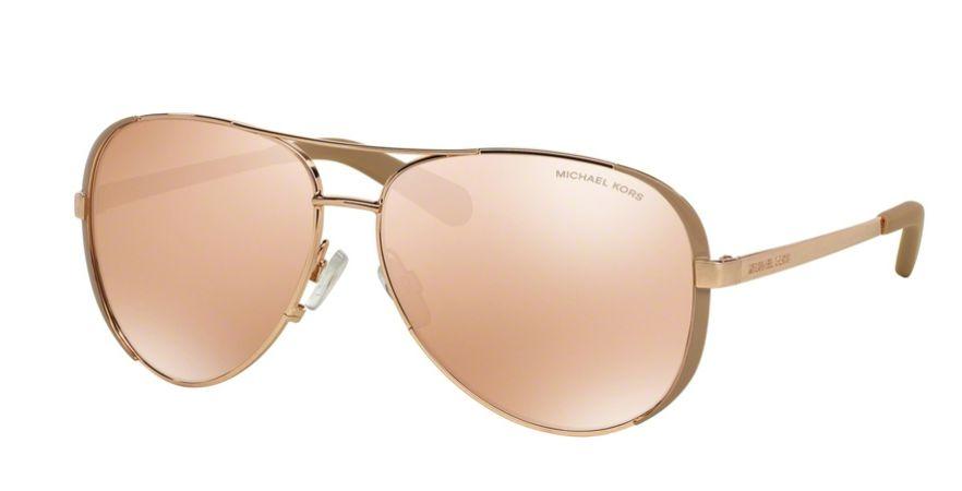 Óculos de Sol Michael Kors Rose Gold Estilo Aviador - Aviator de Lentes  Espelhadas Rosa - 4e5307ee8c