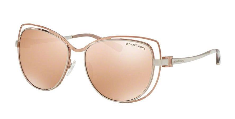 5da630e69e7cc Óculos de Sol Michael Kors Rose Gold Estilo Gatinho de Lentes Espelhadas  Rosa - Audriana I