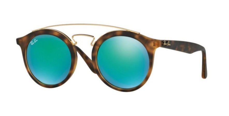 00da4109283e Óculos de Sol Ray-ban Tartaruga - Turtle - Gatsby Redondo Espelhado Verde  RB425660923R