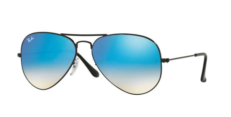 c85eb9e2a7a58 Óculos de Sol Ray-ban Aviador - Aviator Gradiente Espelhado - Piloto - Preto  com