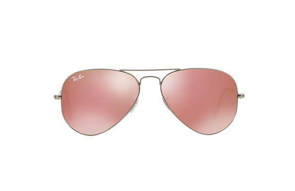 Óculos de Sol Ray-ban Aviador - Aviator - Piloto - Prata com Lentes  Espelhadas 73d674311f