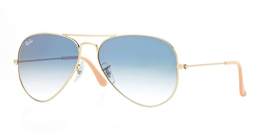 Óculos de Sol Ray-ban Aviador - Aviator - Piloto - Dourado com Lentes Azuis 7502d3c915