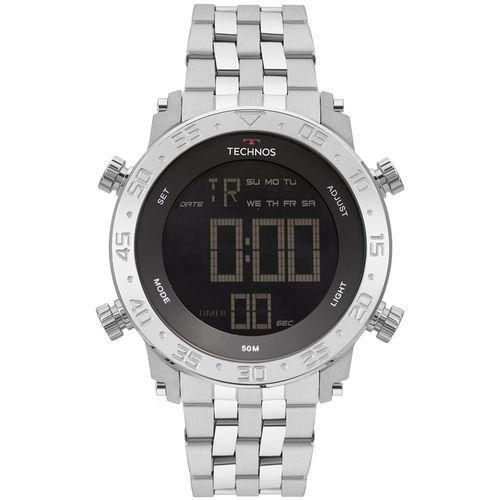 f2732c047b02f Relógio Masculino Technos Digital em Aço com Luz e Resistente à Água -  BJK006AB1P