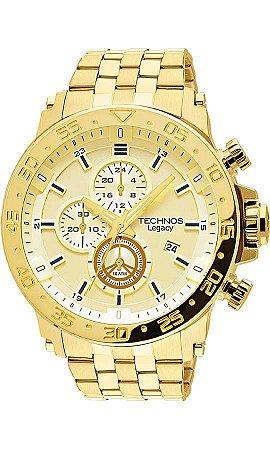 9676c193c2f Relógio Technos Classic Legacy Masculino Dourado - Gold - Função Cronógrafo  - JS15AO4X
