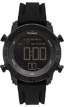 0ea00708638a5 Relógio Technos Performance Preto Digital Masculino com Luz e Pulseira de  Silicone - BJK006AA4P