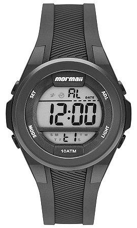 cba70c30aa718 Relógio Mormaii Digital Médio Preto com Luz - Unissex - MO38008P ...