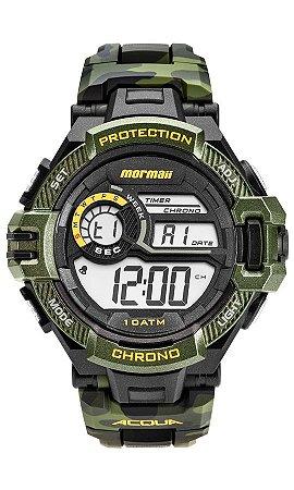 3ec4fedbe581f Relógio Mormaii Digital Camuflado com Pacer - Marca Passo para Exercício e  Luz - MO11348V