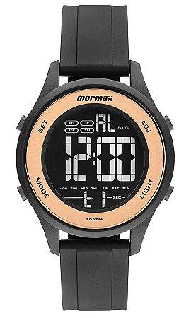 85e2c44b12da2 Relógio Mormaii Wave Digital Feminino Redondo Rosé com Luz - MO62008J
