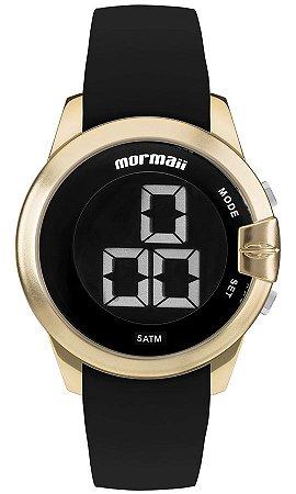 a796c61ee3133 Relógio Mormaii Digital Redondo Feminino Dourado-Gold com Pulseira de  Silicone - MOBJT0078D
