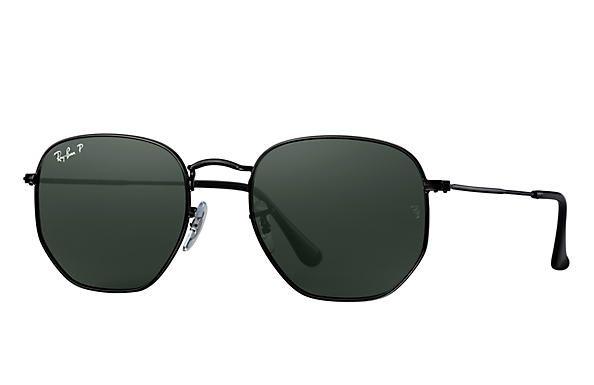 Óculos de Sol Ray-ban Hexagonal Flat Lenses - Preto-black com Lenes  Polarizadas 0cdfa923fd