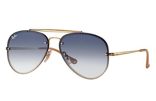 3876cc115b164 Óculos de Sol Ray-ban Blaze Aviador - Aviator - Piloto - Dourado e Lentes