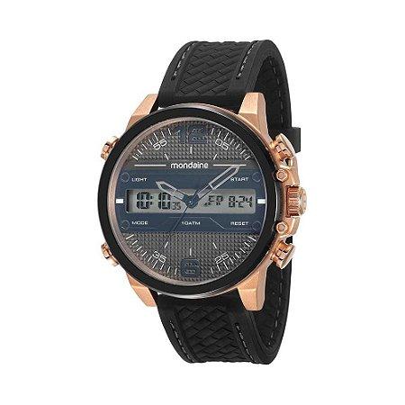 46eec618bb1fe Relógio Masculino Mondaine Analógico e Digital - Anadigi - Caixa de Aço cor  Bronze-Rose