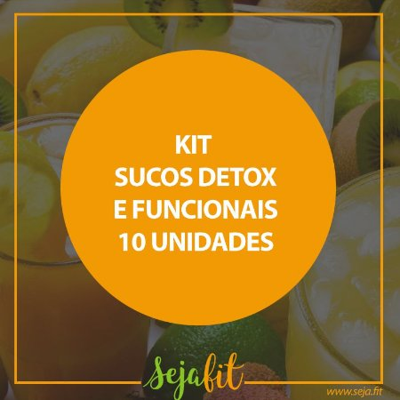 KIT Sucos Detox e  Funcionais - 10 unidades
