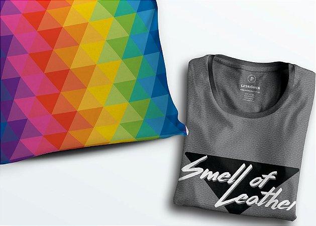 Combo Nazaré - Camiseta Cheiro de Couro + Almofada com enchimento