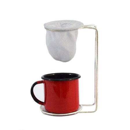 Coador Individual de Café com Xícara Esmaltada