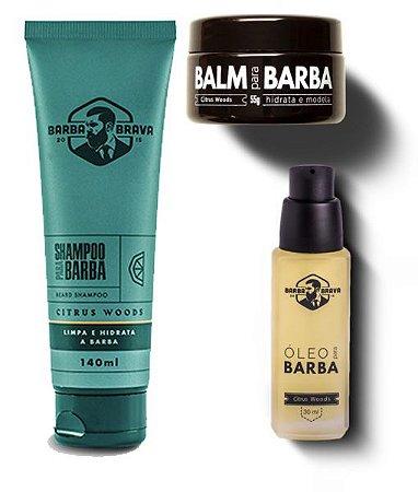 Kit para Barba Citrus Woods - Barba Brava