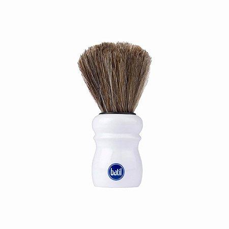 Pincel Barbear Cerdas Naturais - Branco