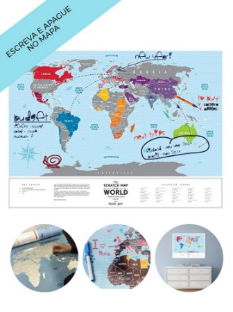 Mapa Mundi De Raspadinha - Blue