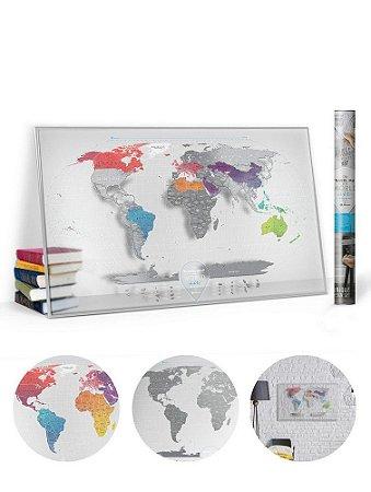 Mapa Mundi de Raspadinha Transparente