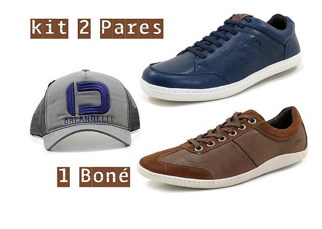d6d115d0eb Kit 2 pares Sapatenis Masculino Casual Orlandelli 28091 - Sapatos de ...