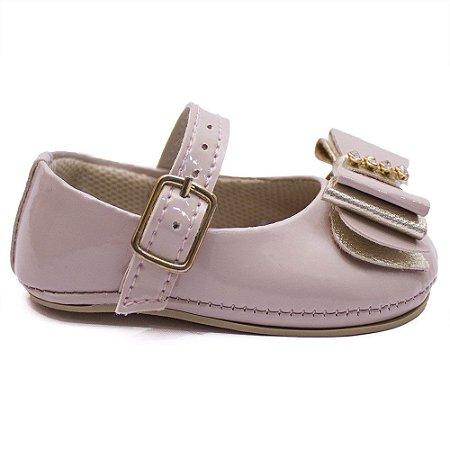 Sapato bebê feminino Cla Cle Briget Nude