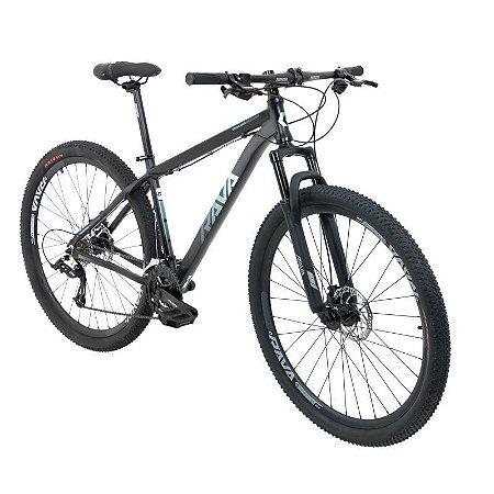 Bicicleta Mtb Rava Pressure Aro 29 2021 24 Velocidades Tam 19 Verde claro.