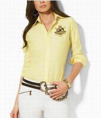 13f3a880e7f38 Camisa Executiva Ralph Lauren Feminina - Lookeshop