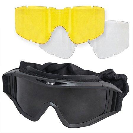 4598861a712bd Óculos Tático de Proteção Nautika Multi - Airsoft Paintball   Viveza ...