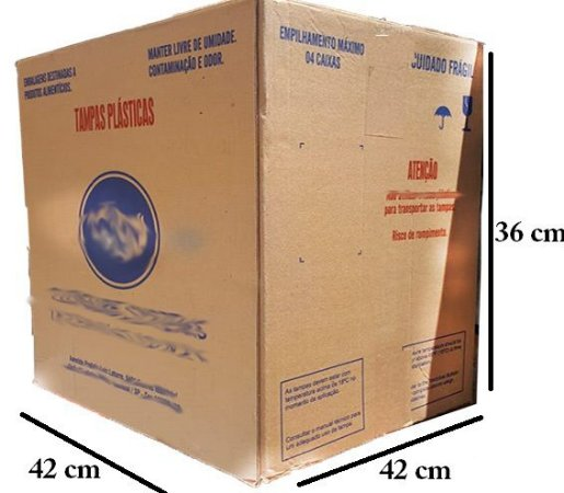 Caixa de Papelão Media 42x42x36 Adequada para Mudança (semi nova)