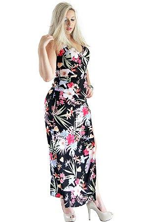 e443ac9a2 Vestido Longo Florido - It's MODA