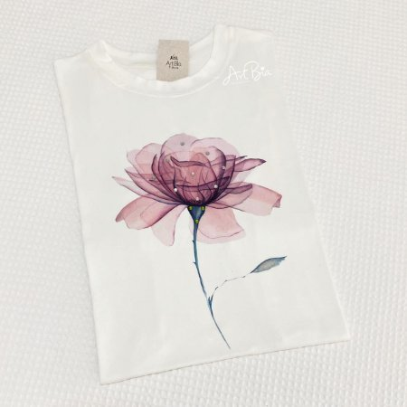 Tshirt Flor strass suede
