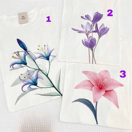Tshirts Flores Strass