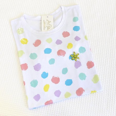 Tshirt Bolinhas Color