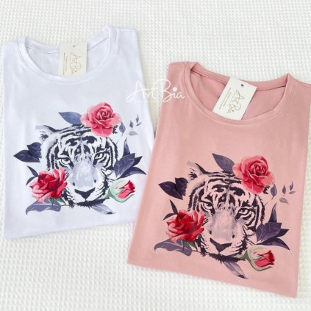 Tshirt Trigre Rosas