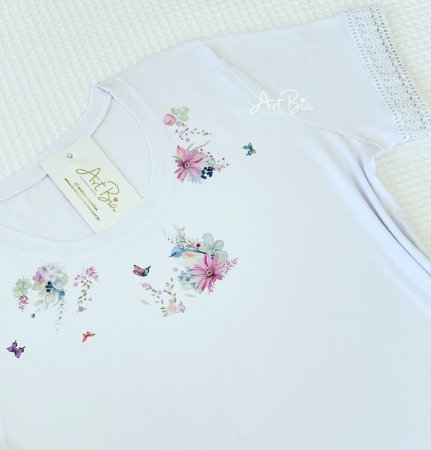 Tshirt Gola Floral renda