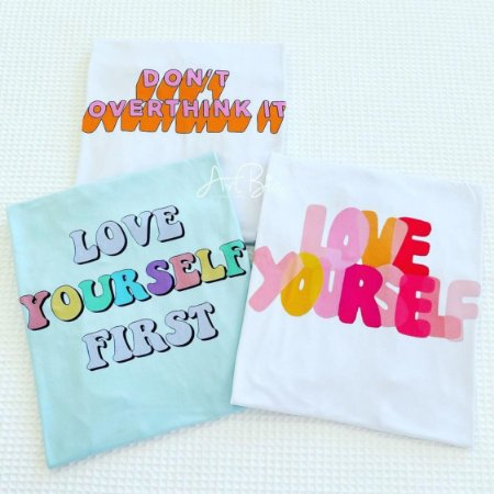 Tshirt Don't Overthink e Love Yourself