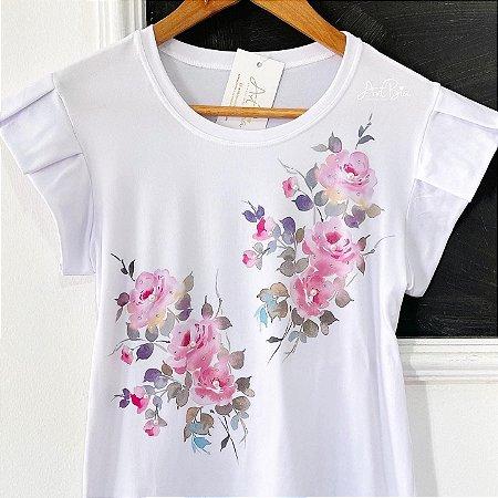 Tshirt Estampa Floral dupla