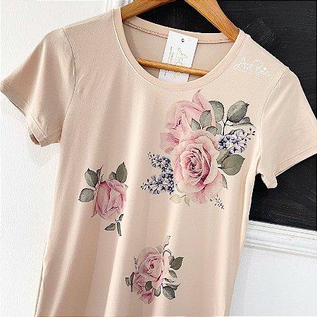 Tshirt Três Rosas