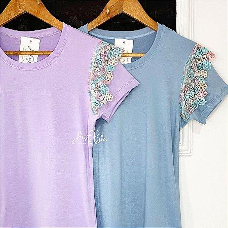 Tshirt Renda Color ombro