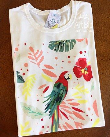 tshirt arara floral